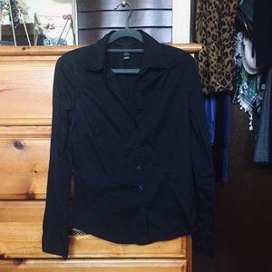 H&M Black Collared Shirt
